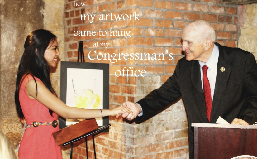 How my Artwork Came to Hang at my Congressman's Office