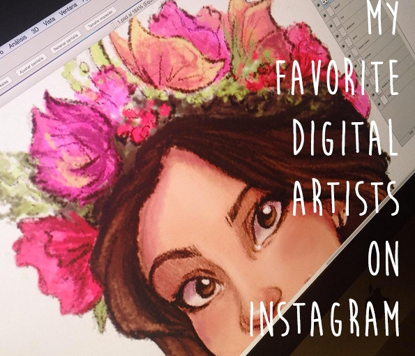 My Favorite Artists to Follow on Instagram- digital illustrators